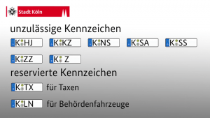Grafik: Unzulässige Kennzeichen in Köln