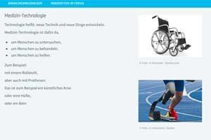 Screenshot eines Textes in Leichter Sprache mit Foto