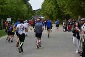 Läufer auf der Strecke