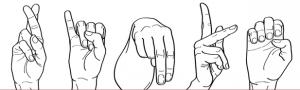 Fingeralphabet der Gebärdensprache