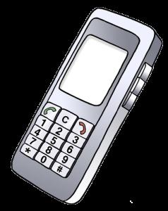 Grafik eines Handy