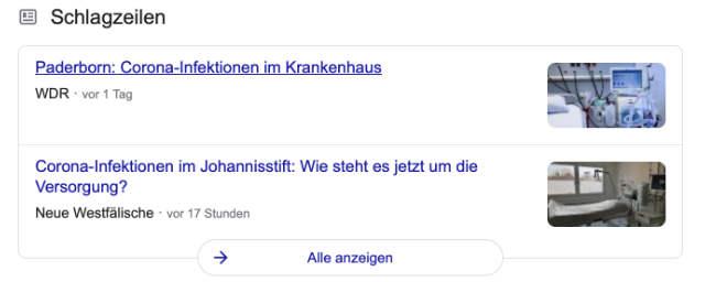 Beispiel für Google-News