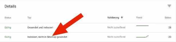 Die Google Search Console zeigt im Rahmen der SEO-Analyse Fehler auf.
