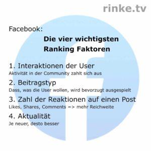 Die vier wichtigsten Ranking-Faktoren bei Facebook